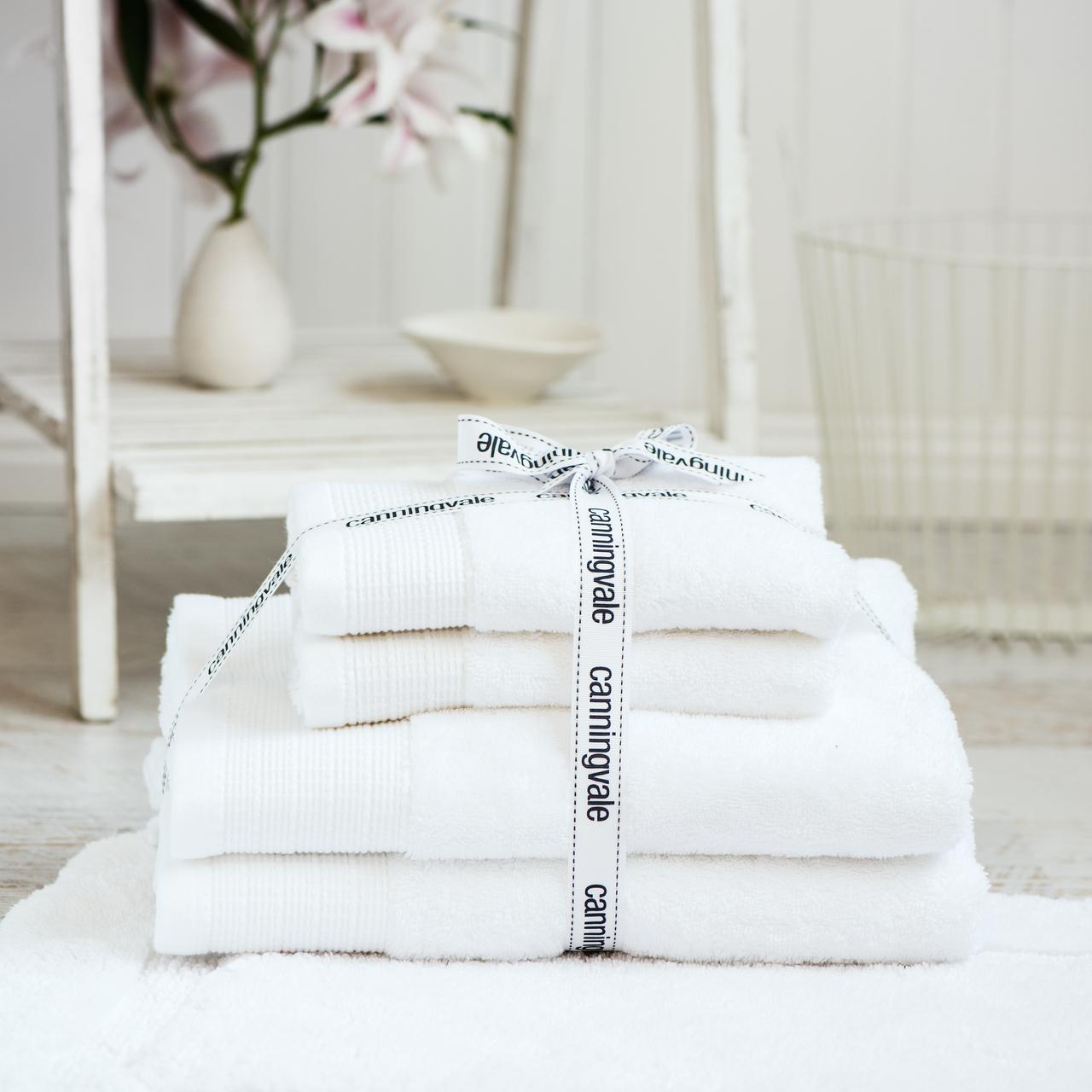 Canninvale cotton bamboo 4 piece bath towel set