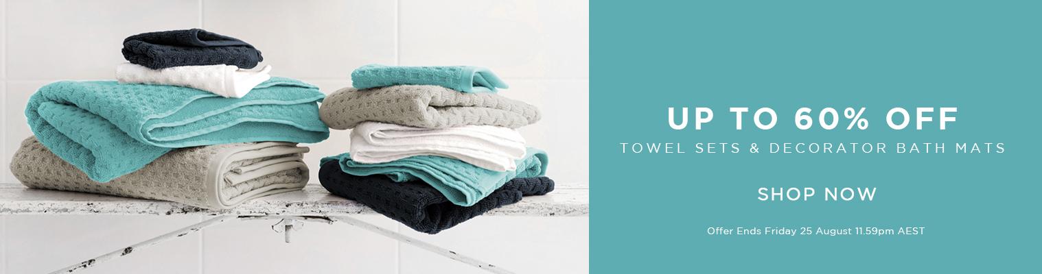 Towel Sets & Decorator Bath Mats Sale