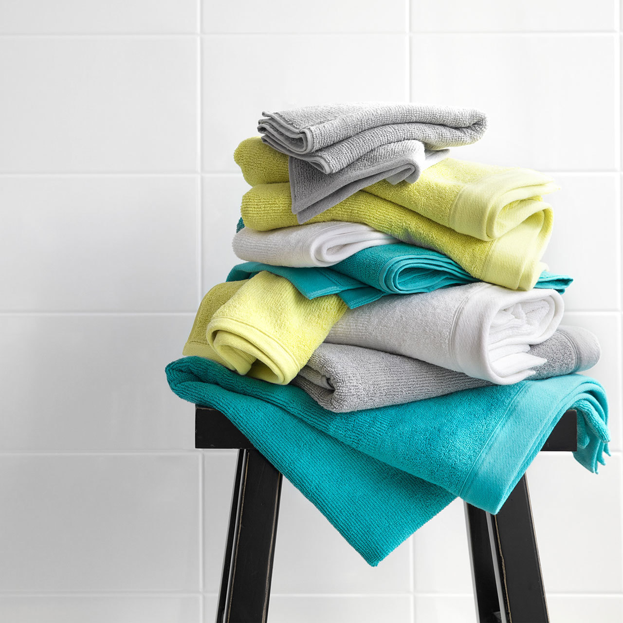 Canningvale corduroy rib bath towel range