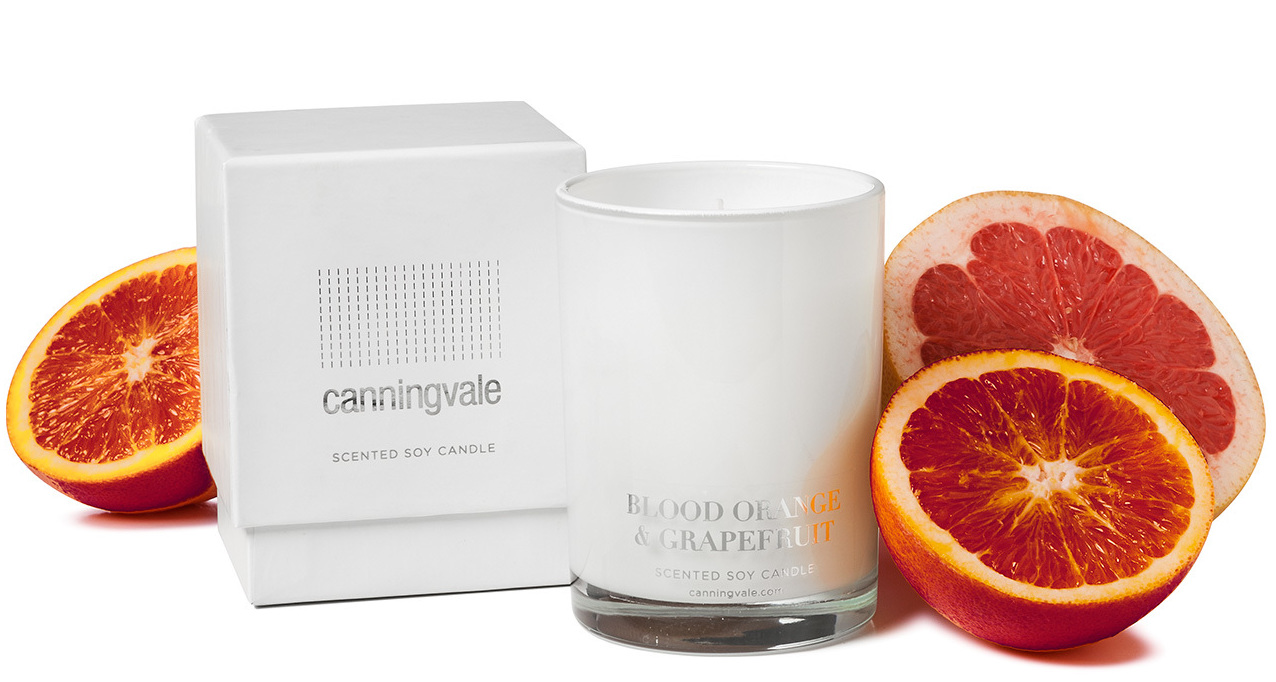 Blood Orange & Grapefruit Scented Soy Wax Candle - Medium