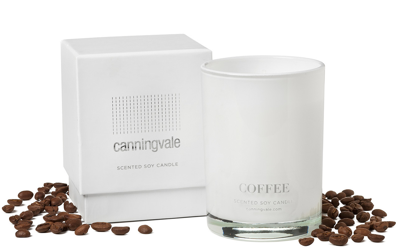 Coffee Scented Soy Wax Candle - Medium
