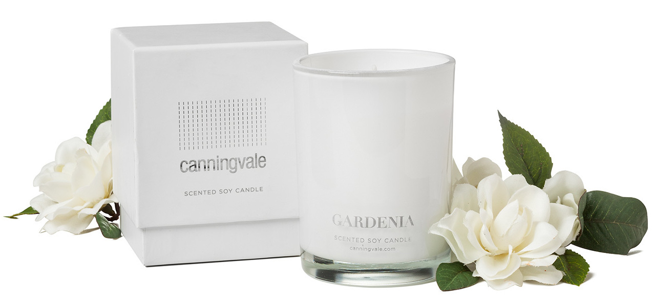 Gardenia Scented Soy Wax Candle - Medium