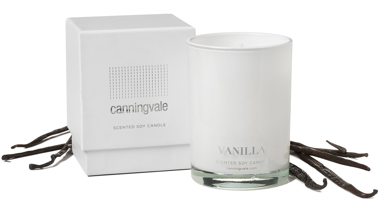 vanilla scented soy wax candle medium