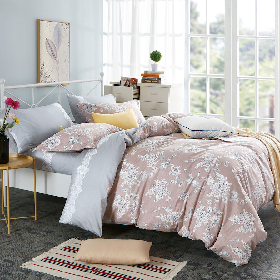 Ornella Cinque Terre 100% Cotton Printed Reversible Quilt Cover Set
