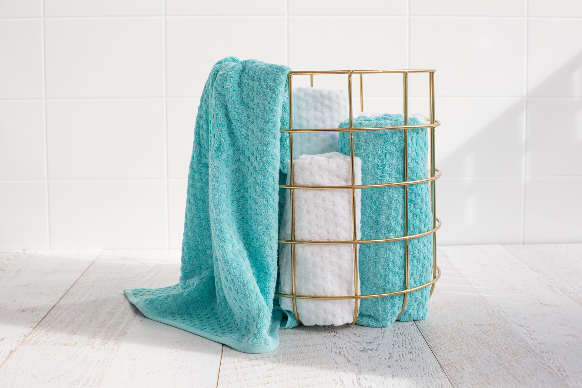 Quadretti super soft 5 piece towel set