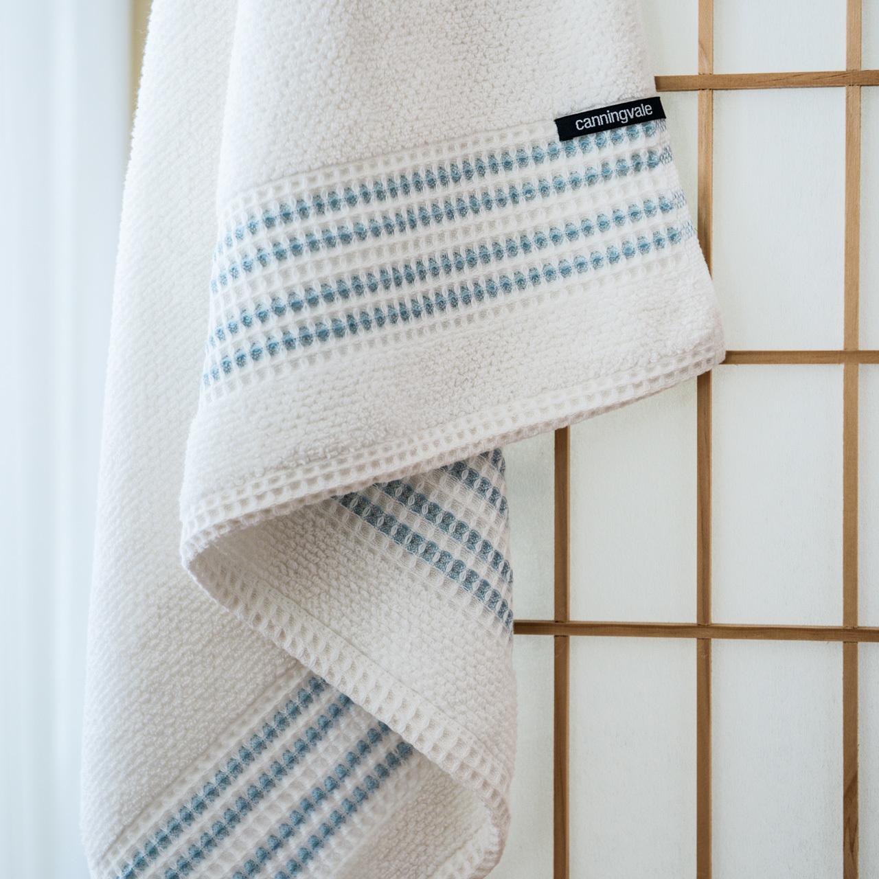 Canningvale Waffle Border Bath Towel Range