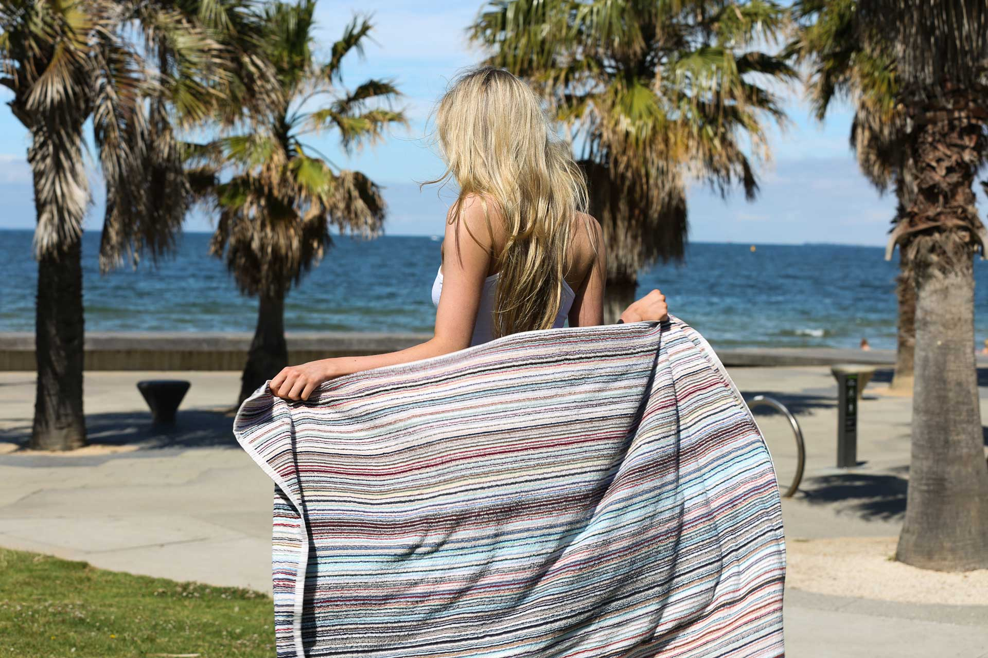 Canningvale Eco Stripe Beach Towel