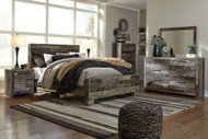 Derekson Multi Gray 5 Pc. Queen Panel Bed Collection