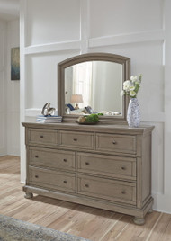 Lettner Light Gray Dresser & Mirror