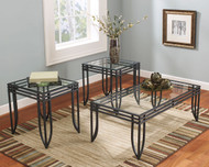 Exeter Black/Brown Occasional Table Set