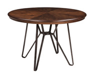 Centiar Two-tone Brown Round Dining Room Table
