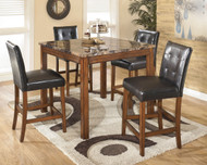 Theo Warm Brown Square Counter Table Set