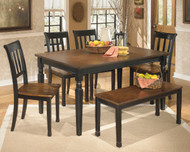 Owingsville 6 Pc. Rectangular Dining Room Table, 4 Side Chairs & Bench