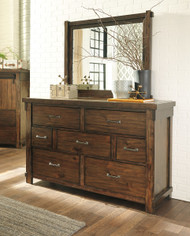 Lakeleigh Brown Dresser & Mirror