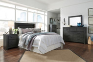 Brinxton Black 4 Pc. Dresser, Mirror, Queen Headboard Bed & Nightstand