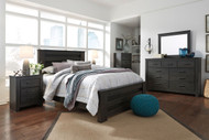 Brinxton Black 5 Pc Dresser, Mirror & Queen Poster Bed