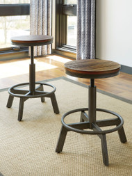 Torjin Brown/Gray Stool(Set of 2)