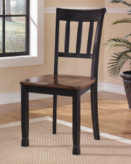 Owingsville Black/Brown Dining Room Side Chair(Set of 2)