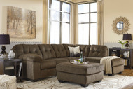 Accrington Earth Left Arm Facing Sofa, Right Arm Facing Corner Chaise Sectional & Accent Ottoman