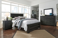 Brinxton Black 7 Pc. Dresser, Mirror, Queen Poster Bed & 2 Nightstands
