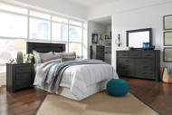 Brinxton Black 6 Pc. Dresser, Mirror, Chest, Queen Headboard Bed & 2 Nightstands
