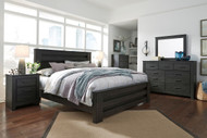 Brinxton Black 6 Pc. Dresser, Mirror, Chest & King Poster Bed