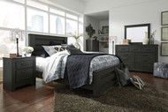 Brinxton Black 8 Pc. Dresser, Mirror, Chest, Queen Poster Bed & 2 Nightstands
