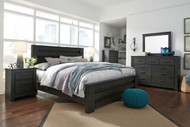 Brinxton Black 8 Pc. Dresser, Mirror, Chest, King Poster Bed & 2 Nightstands