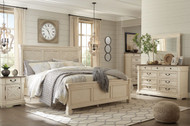 Bolanburg Two-tone 6 Pc. Dresser, Mirror, Chest & Queen Panel Bed