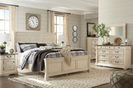Bolanburg Two-tone 6 Pc. Dresser, Mirror, Chest & Queen Louvered Bed