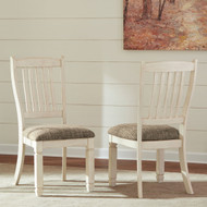 Bolanburg Two-tone Dining Upholstered Side Chair(Set of 2)