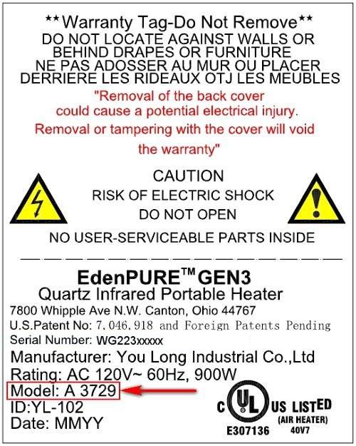 EdenPURE Replacement Parts - Official OEM Parts Source