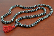 Swirl Carved Tibetan Buddhish Buffalo Bone Mala Prayer Beads 10mm