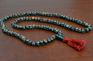 Brown Carved Swirl Tibetan Buddhish Buffalo Bone Mala Prayer Beads 8mm