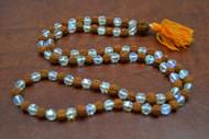 Rudraksh With Rainbow Crystal Japa Mala Rosary Prayer Beads 6mm