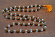 Copy of Rudraksh With Crystal Facted Japa Mala Rosary Prayer Beads 6mm