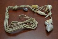 "Handmade Plant Abaca Twine Seashell Hanger Holder 48"""