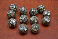 Abalone Shell Round Beads 12mm