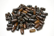 Plain Chocolate Dark Brown Buffalo Bone Tube Pipe Beads