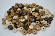 Assort Mix Carved Tube Round Buffalo Bone Beads