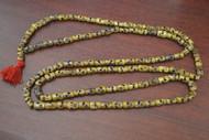 Dark Brown Skull Tibetan Buddhish Buffalo Bone Mala Prayer Beads 12mm