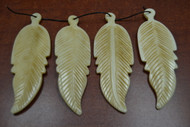 Carved Buffalo Bone Leaf Pendant
