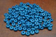 Dyed Dark Blue Plain Round Bone Beads 6mm