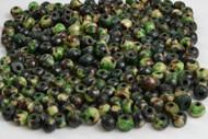 Dyed Green Round Buffalo Bone Beads 6mm