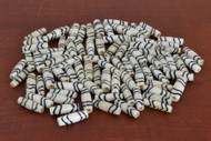 Coffee Brown Wavy Mud Bone Tube Beads 19mm