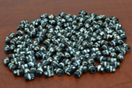 Chocolate Brown Spotted Stripe Mud Bone Tube Beads 6mm