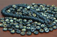 Chocolate Brown Round Buffalo Bone Beads 14mm