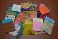 12 Pcs Handmade Drawstring Gift Pouches 3x4