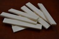 Electric Guitar Buffalo Bone Saddle Blank 89 x 12 x 3mm