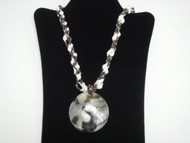 Black Lip Mother of Pearl Shell Puka Necklace